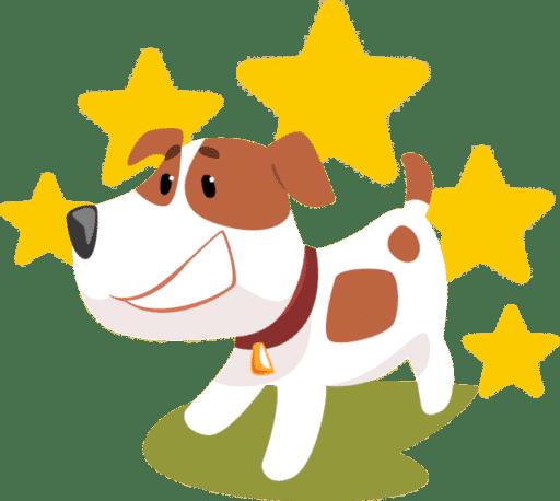 Hund mit Sternen